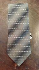 Cc Hughes Green Blue Dot Stripe Executive Designer Necktie Free Shipping
