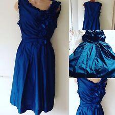 ROBERT RODRIGUEZ BLUE Designer Dress 8 Fashionista Vogue New York Prom Party