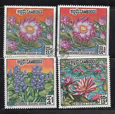 Cambodia 1970 Flowers Sc 231-233, 231a Fine used