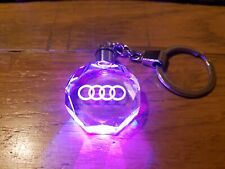 AUDI CRYSTAL KEY CHAIN LED KEY RING A1 A3 A4 A5 Q5 S1 S3 S5 RS3 RS4 RS5 QUATTRO