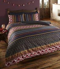 Style marocain Orkney Geometric boho ethnique Double couette couverture ensemble...