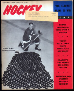 2 - Hockey Magazines with Gordie Howe on Cover Sports Illustrated & Hky Pictoral