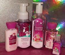 Bath & Body Works Twisted Peppermint Shower Gel, Lotion, Anti-Bac, 2 Hand Soaps
