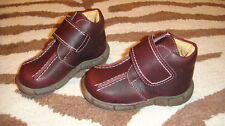 NEW MINIBEL 20 BROWN LEATHER BOOTS BOYS US 4