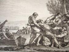 GRAVURE XVIIIe / ASSASSINAT DE GUILLAUME DUC DE NORMANDIE AN 943