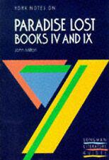 "York Notes on John Milton's ""Paradise Lost"", Books 4 and 9 (Longman-ExLibrary"