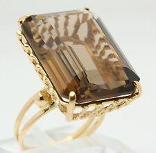 ♦ Rauchtopas Ring in aus 18 kt 750 Gelb Gold mit Quarz Topas Goldring Topasring