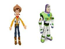 "Toy Story BUZZ  and  WOODY Large PLUSH Set 2 pcs 17"" Disney Store NEW"
