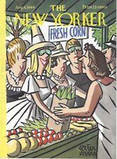COVER ONLY New Yorker magazine ~ August 8 1964 ~ ARNO ~ Farmer's Market Corn