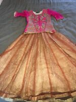 Asian Pakistani Wedding Party Wear For Small Kids Lengha