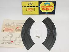 "AURORA MODEL MOTORING 9"" 1/4 CORNER CROSSOVERS ~ EXC IN BOX W/HRDWR ~ CLEAN!"