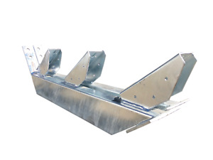 Stair Stringers, 1-17 Tread, Hot-Dipped Galvanised (Pair), Bolt-down or Cast-in