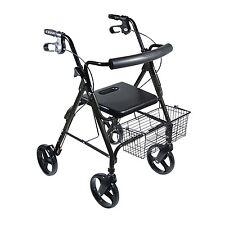 Drive Medical DLite Rollator Walker with 8in Wheels and Loop Brakes 750NBK NEW