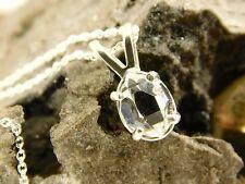 REAL 5x8 mm Jewelry Grade A+ New York Herkimer Diamond Quartz Crystal Pendant