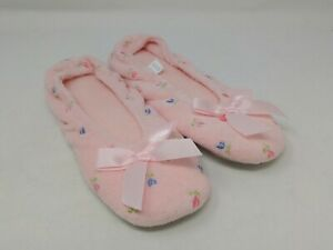 Isotoner Women's Pink Ballet Flat Slippers Small Size 5-6 US