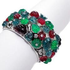 Kenneth Jay Lane KJL Art Deco Tutti Frutti Fruit Salad Cuff Bracelet