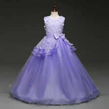 Flower Girl Dress Princess Formal Graduation Holiday Wedding Sz 6 8 10 12 14 16