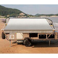 ALEKO 21'X8' Retractable RV or Home Patio Canopy Awning, Grey Fade Color