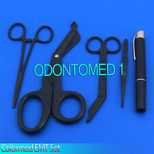 Colormed Holster Set EMS EMT Diagnostic Surgical Instruments Full Black Set