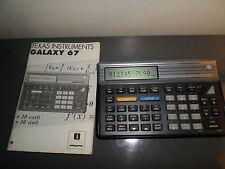Calculatrice Texas Instruments Galaxy TI-67 avec notice