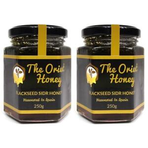 2 x 250G Black Seed Sidr Honey Quality 100% Authentic Royal Raw The Orient Honey
