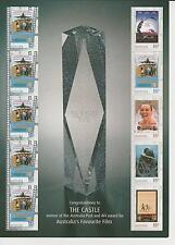 2008 Australia's Favourite Film, The Castle, Miniature Sheet, SG 3106-10 MUH