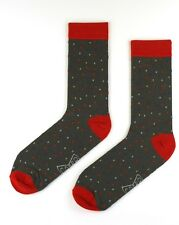 Mens Cotton Business Socks Crew Work Dress Wedding Socks Size40-46 Grey Colour