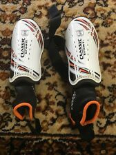 "Classic Sport Shin Guards- Fits Child 3'11 - 4'7"" Orange And Black"