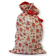 Personalizado Deluxe Impreso Nordic Navidad Media Saco Navidad Santa De Lujo