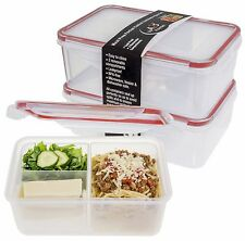 A2S Protection Bento Lunch Box 2pcs Meal Prep Containers Microwavable - BPA FREE