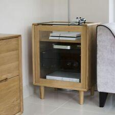 Winton Solid Oak Living Room Furniture Hi-Fi Media Cabinet Unit
