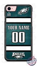 FOOTBALL JERSEY PHILADELPHIA EAGLES PHONE CASE  FITS iPHONE SAMSUNG etc NAME&#
