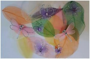 Butterfly Dragonfly & Leaves Pack DIY Crafts and Scrapbooking a c