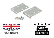 KITCHEN HINGE REPAIR KIT Plate Cupboard Door Cabinet Pair + Screws - Silver