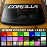 Premium Windshield Banner Die Cut Vinyl Decal Sticker for Corolla Toyota