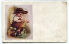 Ceresota Flour Boy Cutting Bread Loaf 1913 advertising postcard