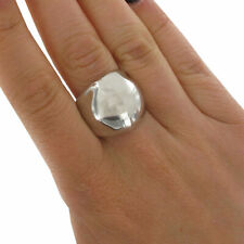 Statement Metal Ring Silver Tone Structural Dome Large Big Chunky Sz 9
