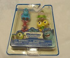 4-Pack Monsters University Mini Figure Toy Sulley Terry & Terry Carla Squishy