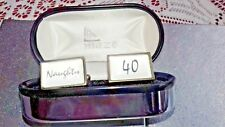 ''NAUGHTY FORTY ''CUFF LINKS BY MAZE