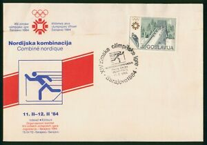 Mayfairstamps Yugoslavia 1984 Olympics Ski Jump Nordjska Kombinacija Cover wwo_7