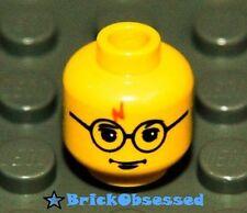 LEGO Yellow Harry Potter Minifig Head Glasses Lightning Bolt 4708 4709 4730 NEW!