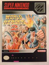 World Heroes 2 - Super Nintendo - Replacement Case - No Game