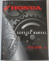 2002 Honda VTX1800R VTX 1800R Service Shop Repair Manual  OEM 61MCV00