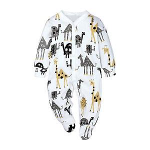 Baby Toddler Romper Boys Girls Long Sleeve Jumpsuit Bodysuit+Footie Daily Wear