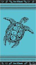 Serviette de plage jacquard Tortue bleu 90X170 cm JQ181