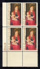 #1336 1967 5-cent Christmas block of 4 with plate# MNH