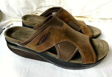 MBT Brown Leather Upper Designer Sandals Sliders Size UK 7 Eur 41 USA 7/7.5