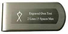 Master Of Ceremonies Silver Engraved Masonic Money Clip With Pouch