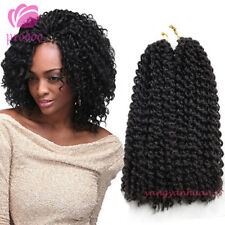 "2Pcs/set 12"" Mali Bob Curly Hair Synthetic Crochet Braiding Hair Extension Black"