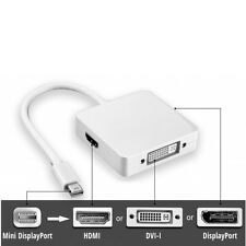 Mini Display Port Thunderbolt to DVI HDMI DP Adapter for MacBook Air Pro Mac